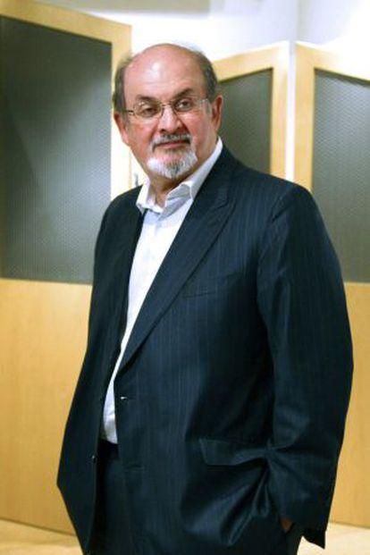 El escritor Salman Rushdie, hoy en Madrid.