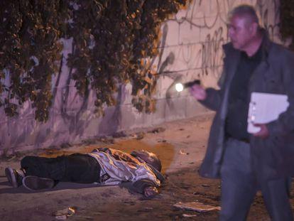 Un hombre asesinado en Baja California en febrero de este año.