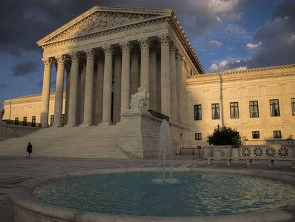 El Tribunal Supremo en Washington, Estados Unidos.