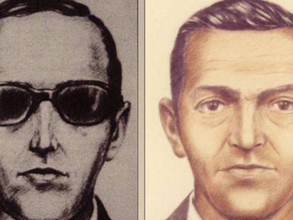 Dos retratos robot de D. B. Cooper difundidos por el FBI.