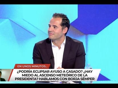Ignacio Aguado, el pasado lunes 21 de junio durante su primer día de colaborador de 'Todo es mentira'.