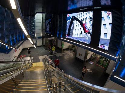 Imagen de la nueva estación de metro de Gran Vía, inaugurada el 16 de julio.
