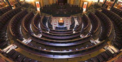 Vista del hemiciclo del Congreso de los Diputados.