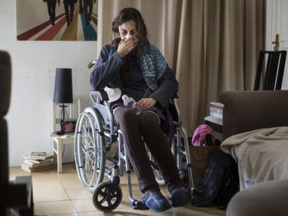 María Goretti Guisande, en el salón de su casa.