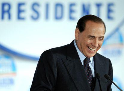 Silvio Berlusconi, tras su victoria electoral en abril pasado.