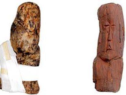 Las piezas olmecas tienen 3.000 años de antigüedad.