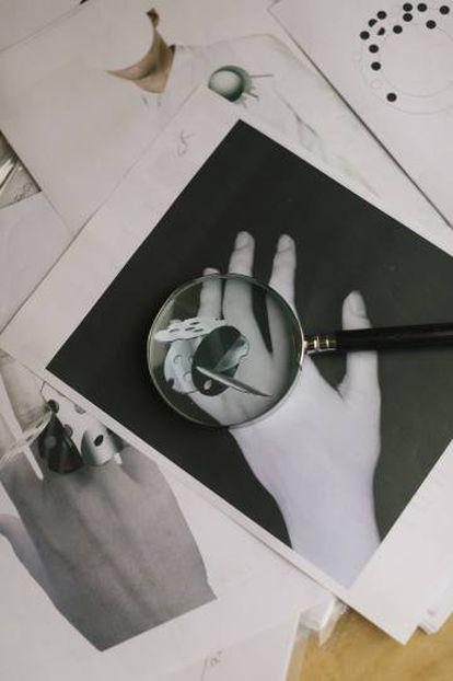 Bocetos para una colaboración con el artista brasileño Macaparana.