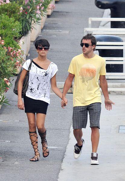 Raquel del Rosario y Fernando Alonso, en una imagen de archivo.