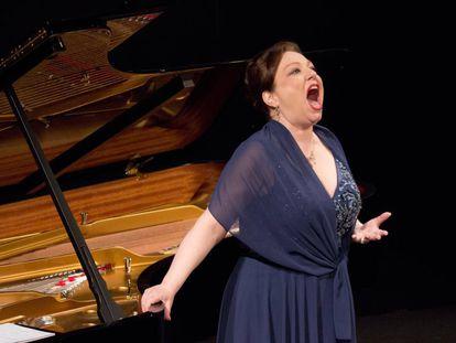 La soprano alemana Dorothea Röschmann en un momento del recital.