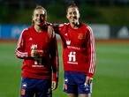 Alexia Putellas (izquierda) y Jenni Hermoso, esta semana en Las Rozas en un entrenamiento con la selección.