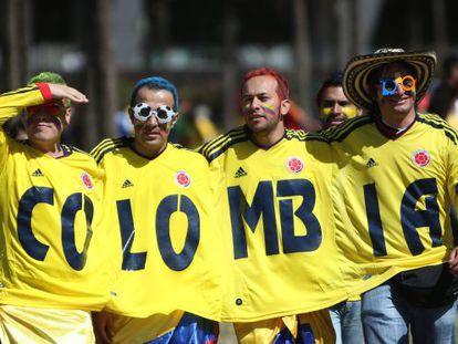Aficionados colombianos que viajaron al Mundial de Brasil.