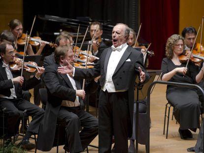 El barítono Leo Nucci durante su actuación, en una imagen cedida por M. A. Fernández.
