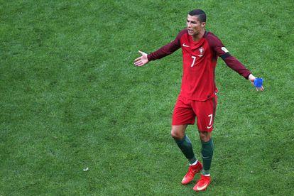 Cristiano Ronaldo al terminar el partido contra México.