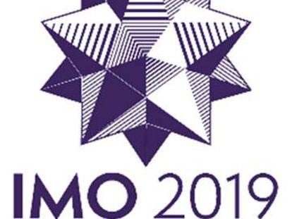 Cartel de la Olimpiada Matemática Internacional.