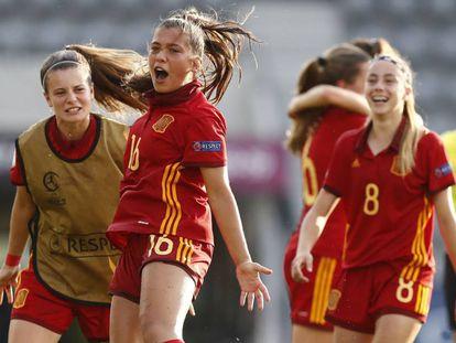 Llompart celebra su gol ante Alemania.