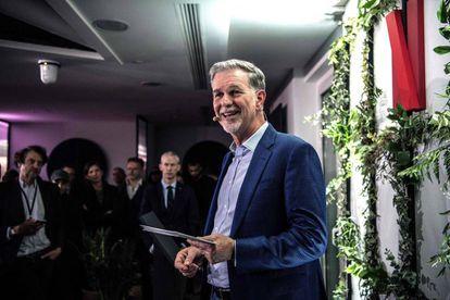 Reed Hastings, durante la inauguración de las nuevas oficinas de Netflix en París el pasado 17 de enero.