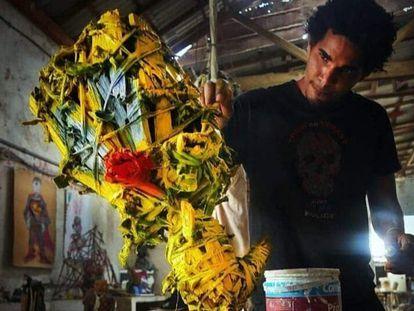El artista cubano Luis Manuel Otero Alcántara.