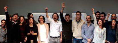 Pablo Iglesias durante la clausura de la Asamblea Ciudadana de Podemos.