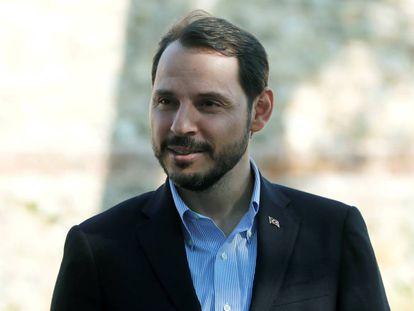 El ministro de finanzas turco, Berat Albayrak, el pasado 2 de septiembre.