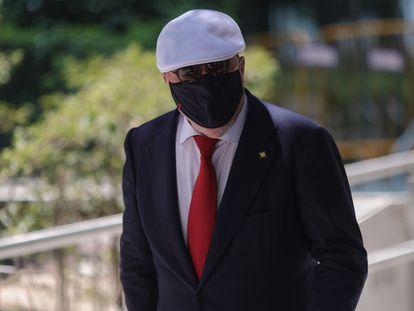El comisario jubilado José Manuel Villarejo sale de declarar en la Audiencia Nacional el pasado 2 de julio.