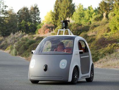 Prototipo del coche sin conductor de Google.