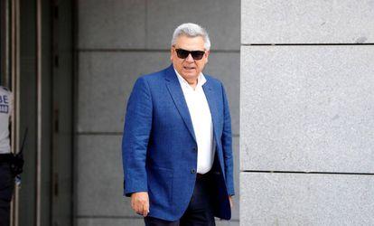 El excomisario general de Policía Judicial Julio Corrochano a su llegada este viernes a la Audiencia Nacional.