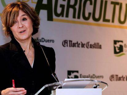 La ministra Isabel García Tejerina en un acto en Valladolid.