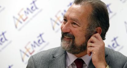 El delegado de Aemet en la Comunidad Valenciana, Jorge Tamayo, ayer, en Valencia.