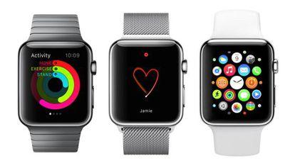 Imágenes de distintos modelos del nuevo Apple Watch.