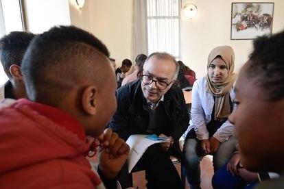 Chakib Benmusa, presidente de la Comisión Especial del Modelo de Desarrollo, en la localidad de Azrú (Marruecos) en febrero de 2020.