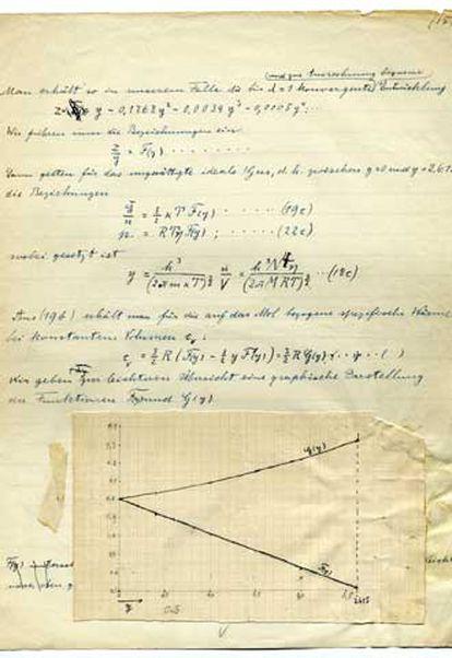 El manuscrito original de Einstein hallado en Leiden (Holanda).
