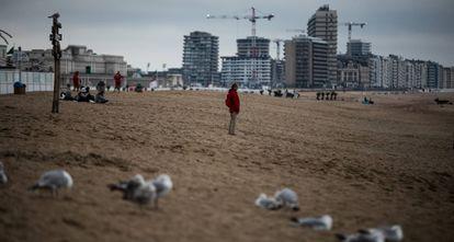 Vista de una playa en Ostende (Bélgica), en la costa atlántica.