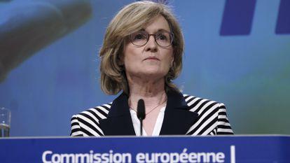 La comisaria europea de Servicios FInancieros, Mairead McGuinness, en una imagen de archivo.