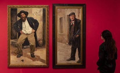 'Borracgo alegre' (1911) y 'Un modelo de la Via Margutta' de 1925, dos de las obras de la exposición que el MNAC dedica al olvidado Antoni Fabrés (1854-1938).