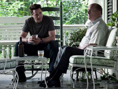 Robert Downey junior y Robert Duvall, en 'El juez'.