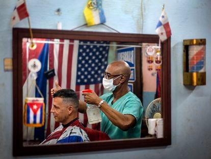 Una peluquería de La Habana, el pasado miércoles.