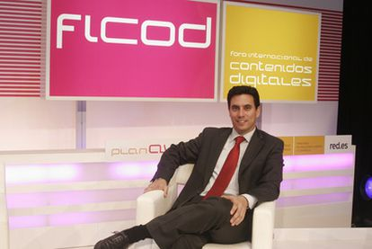 Sebastián Muriel, durante la celebración del FICOD 2007, cuando era el director de Red.es.
