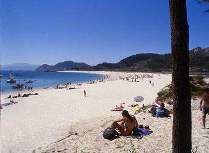 Playa de Rodas, en las islas Cíes (Vigo).