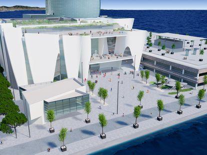 Imagen virtual  extraída del proyecto Museo Hermitage en Barcelona.