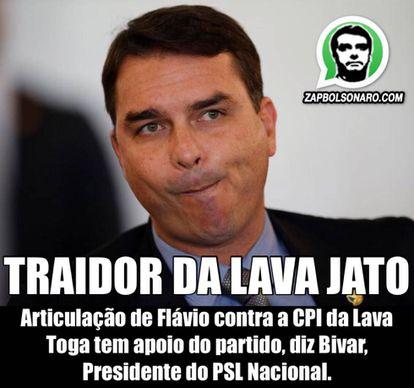 Imagen que circula en uno de los grupos pro-Bolsonaro.
