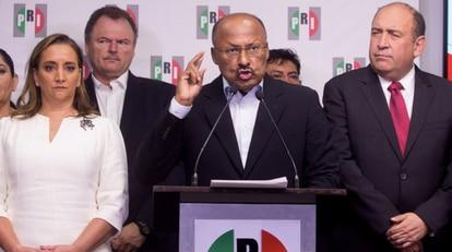 René Juárez Cisneros, en 2018, tras su dimisión como presidente del PRI.
