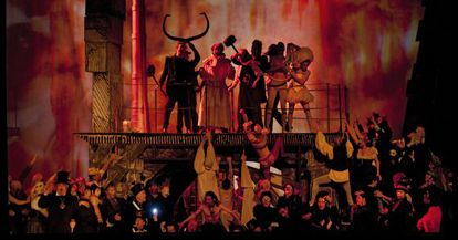 El montaje de 'Benvenuto Cellini' que se podrá ver en el teatro del Liceo de Barcelona.