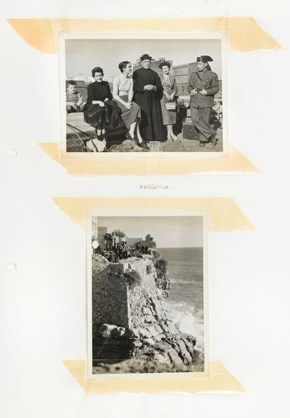 Cuaderno de recuerdos del rodaje de 'Calabuch', en Peñíscola (1956).
