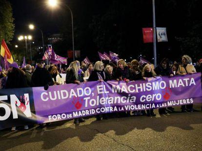 Manifestación contra la violencia machista el pasado 25 de noviembre.