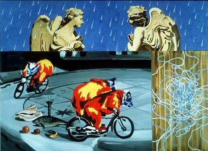 E.A.J.A., pintura de David Salle.