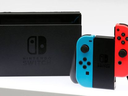 La nueva consola de Nintendo Switch, presentada este viernes en Japón.