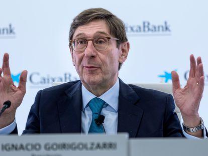 El presidente de CaixaBank, José Ignacio Goirigolzarri, el 26 de marzo.