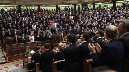 El Congreso de los Diputados, en el acto solemne de apertura de la XII Legislatura.