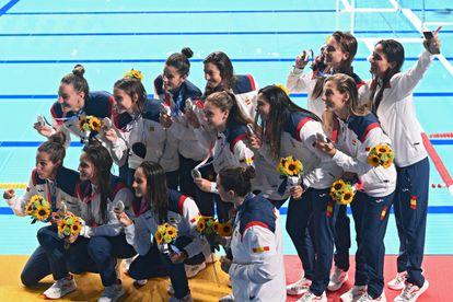 Španska vaterpolska reprezentanca je na igrah v Tokiu 2020 osvojila srebro