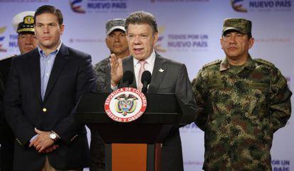 Santos anuncia la muerte de 26 guerrilleros de las FARC.